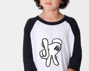 LA Mickey Hands Raglan Shirt 422