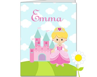Personalized Princess Folder - Pink Princess Pocket Folder for Girls - Custom School Supplies with Name - Kids' Back to School Gift