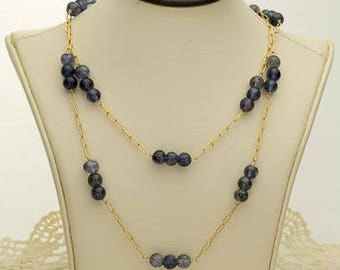 Blue Sapphire Necklace 65ct (B88N)