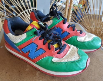 Vintage Retro 70s New Balance Color Block Sneakers -  Womens Size 6.5/7/7.5/37.5