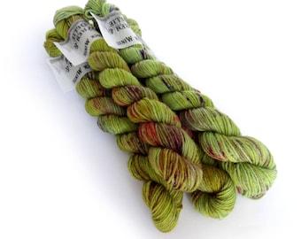 Sock Yarn Mini's Superwash Merino/Nylon 85/15 4ply Handdyed Yarn: ABSINTHE