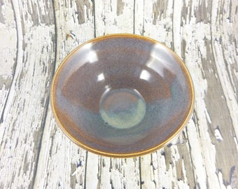 Iron Lustre bowl - small bowl - fluted bowl - pottery bowl