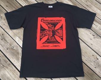 Vintage West Coast Choppers Jesse James tee shirt Medium Black Coors Original