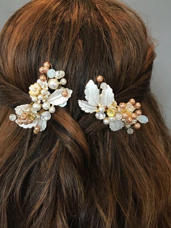 Bridal Comb, Bridal Hair Comb, Swarovski Crystal Comb, Bridal Hair Accessory, Floral Comb,Pearl comb, Bridal Bling, Wedding Headpiece