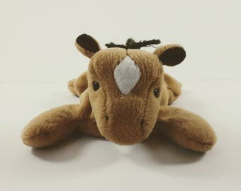 """Rare Derby, TY Beanie Baby, """"Derby"""" with white star on forehead"""