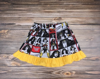 Wonder Woman skirt, girls size 5/6 RTS