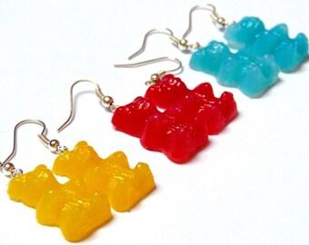 Teddy bear (yellow) Marshmallow earrings