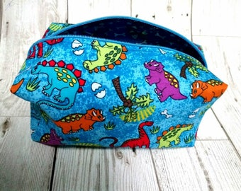 Dinosaur Make Up Bag, Dinosaur Pencil Case, Dinosaur Cosmetic Case, Dinosaur Bag, Dinosaur Gift, Dinosaur Case, Dinosaur Zip Pouch