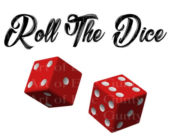 Casino Las Vegas Roll the Dice Birthday - Edible Cake and Cupcake Topper For Birthday's and Parties! - D22905
