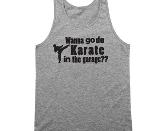 Karate In Garage Step Brothers Movie Funny Catalina Wine Mixer Boats And Hoes Tank Top DT1223