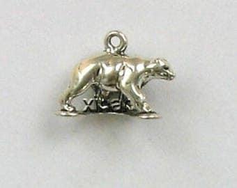 Sterling Silver 3-D Black Bear Charm