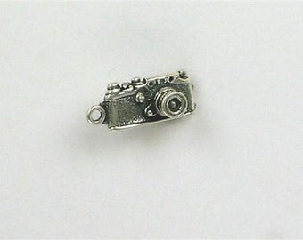 Sterling Silver 3-D 35mm Digital Camera Charm