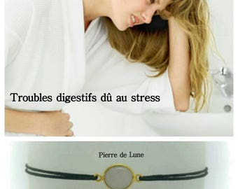 "Bracelet ""Stress-related digestive disorders"": Moonstone"