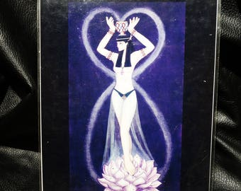 Egyptian Goddess LPrint, Matted