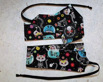 Day of the Dead Kittens, Cats, Wrist Wraps, WOD, Weightlifting, Athletic