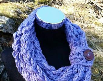 Chunky Scarf SALE, Cowl Infinity, Chunky cowl Lavender, Lavender Chunky infinity, Purple, Infinity Snood Cowl, knit scarf, Purple Scarf cowl