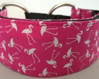 Handmade Martingale dog collar for whippet, greyhound, lurcher