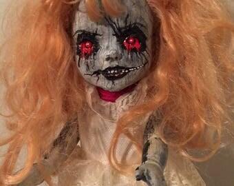 Zelda- OOAK Hand Painted Creepy Cute Goth Doll