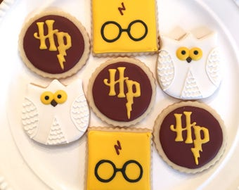 Harry Potter Cookies | Harry Potter Party | Harry Potter Gift | One Dozen