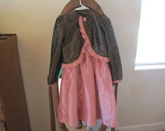 Children's Costumes - Dressy Child's Costume - Used on stage in Production of Cinderella - Satin & Taffeta! Dress with Over Jacket.