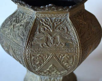 19th Century Bronze Indonesian Vase - Beautiful Design Work - From an Estate - HIghly Collectible - FREE SHIPPING