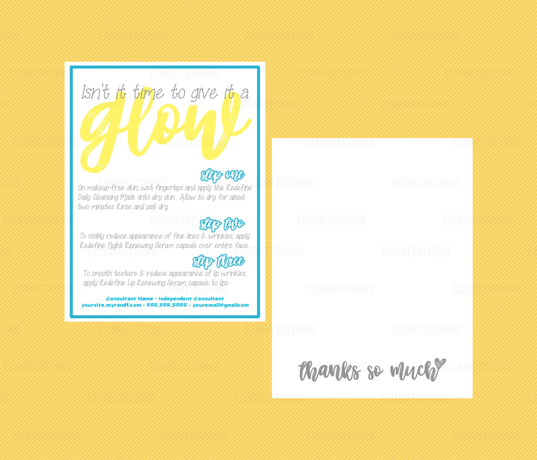 rodan and fields give it a glow pack instructions thank you