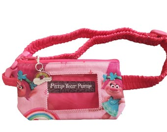 Insulin Pump Pouch Princess Poppy with rainbow zip charm