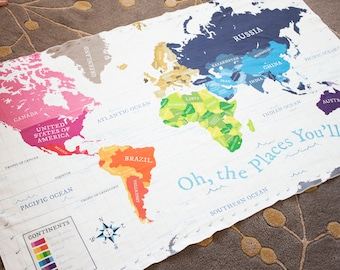 Personalized baby etsy organic baby blanket crib blanket swaddle blanket toddler blanket world map negle Gallery