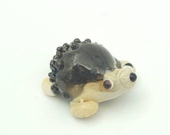 Spike the hedgie, glass hedgehog, mini glass figure, British wildlife, fun accent,