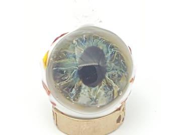 eye ball pendant, eye necklace, spooky jewellery, gross necklace, nightmare punk, medical fashion, realistic eye, gothic gift, creepy eye