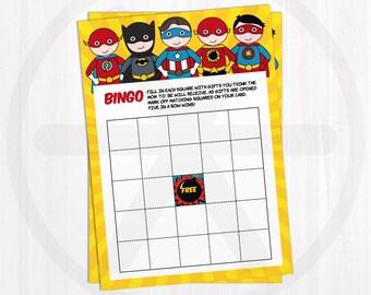Baby Shower Bingo Cards. Printable Bingo Cards. Superhero Baby Shower Games Printable - Activities. Neutral Baby Games. Digital Download