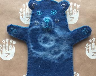 Indigo Bear Puppet