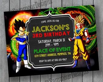 Dragon Ball Z Party Etsy