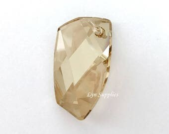 6620 GOLDEN SHADOW 40mm Swarovski Crystal Avant-Garde Pendant, Large Suncatcher Crystal (Rare)