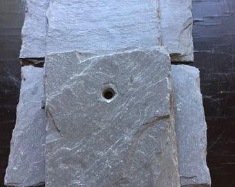"Four  (4) Small Vermont Slate Tile 5.25"" x 3.75"