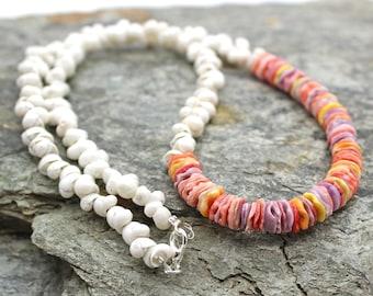 Shell Necklace, Puka Shell Necklace - Shell, Beach Jewelry, Beach Wedding, Shell Jewelry, Shell Necklace, Rainbow Pectin Shell