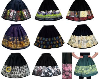 FANDOM SKIRTS - Fantastic Beasts, Cthulhu, Hobbit, Lord of the Rings, Harry Potter, Game of Thrones, Sherlock, Black Butler