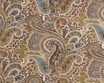 Premier Prints Paisley Chocolate Natural fabric BTY - Beautiful pattern