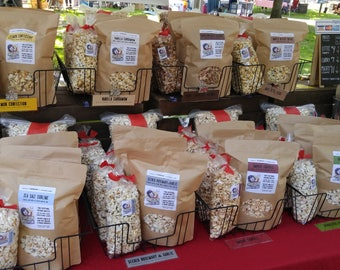 VARIETY 5 PACK - Gourmet Popcorn- Made in Vermont - Choose any five of Karen's delicious flavors!
