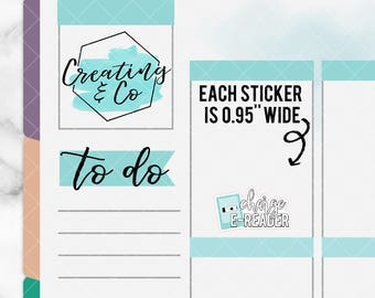 Charge E-Reader Stickers for Variety of Planners - DCF27
