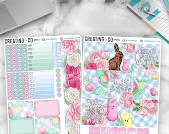 Happy Easter HORIZONTAL Weekly Planner Kit  - MK06