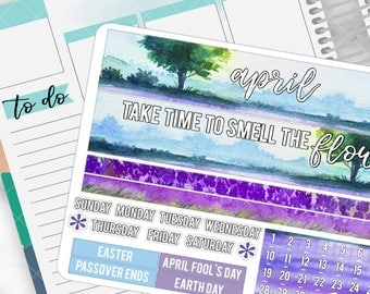 April Monthly Pages Sticker Set for HAPPY PLANNERS - HP04