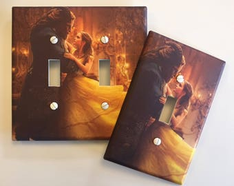 Beauty and the Beast Belle light switch plate cover // SAME DAY SHIPPING**!!