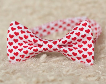 Valentineu0027s Day Bow Tie   Hearts Bow Tie   Mini Session Photo Prop   Boys  Bow