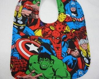 avengers baby bib---super hero bib---bib for babies and toddlers