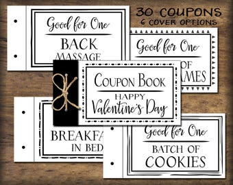 coupon book template for husband - coupon diy etsy