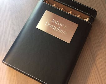 Personalized Leather Cigar Humidor, Black Leather Cigar Travel Humidor, Groomsmen Gifts, Father's day Gift, Anniversary Gift - VCASE500
