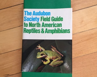 Vintage 1980s The Audubon Society Field Guide to North American Reptiles & Amphibians Guide Reference Book!
