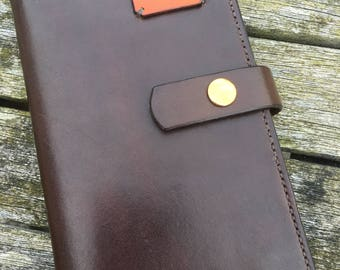 Leather Notebook Cover (Fits 9cmx14cmx1cm - slightly smaller than A6) with notebook