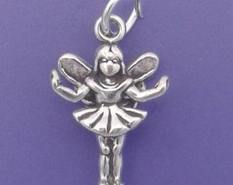 FAIRY Charm .925 Sterling Silver, Fae, Faerie Pendant - lp2305